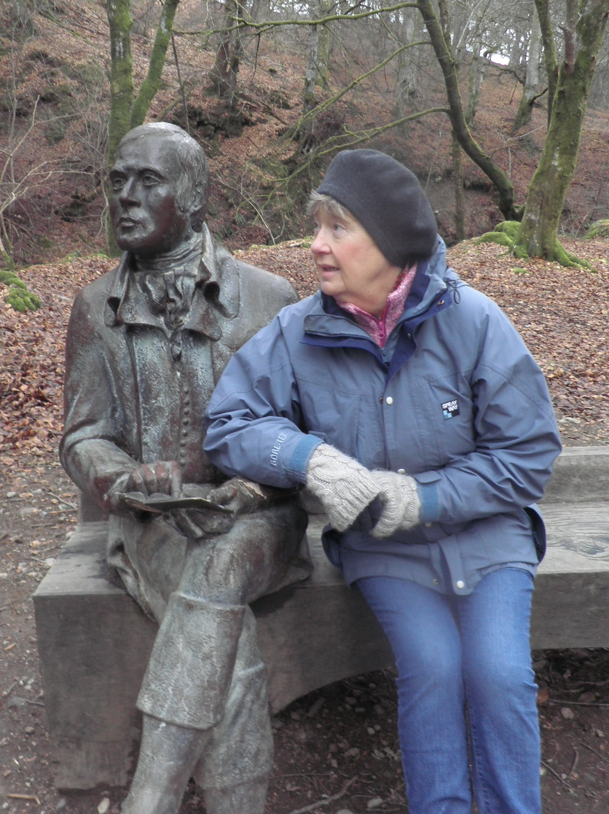Me with Robert Burns at the Birks o' Aberfeldy